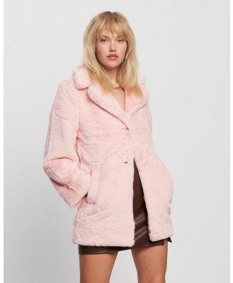 Jorge - Laurel Fur Coat - Coats & Jackets (Pink) Laurel Fur Coat