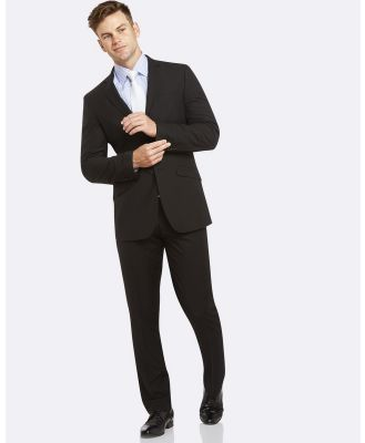 Kelly Country - Livorno Essential Slim Fit Black Suit - Suits & Blazers (Black) Livorno Essential Slim Fit Black Suit