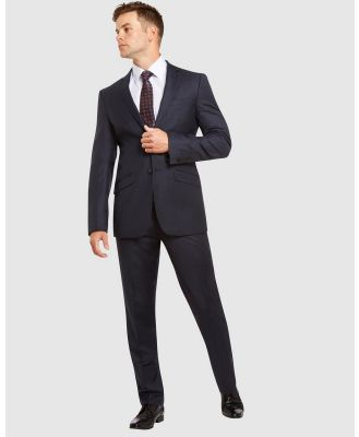 Kelly Country - PGH Pure Wool Slim Fit Self Check Suit - Suits & Blazers (Grey) PGH Pure Wool Slim Fit Self Check Suit