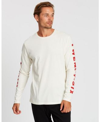 Kent and Curwen - Long Sleeve Tee - T-Shirts & Singlets (White) Long Sleeve Tee