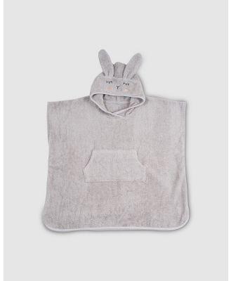 Kikadu - Poncho Rabbit - Towels (Grey) Poncho Rabbit
