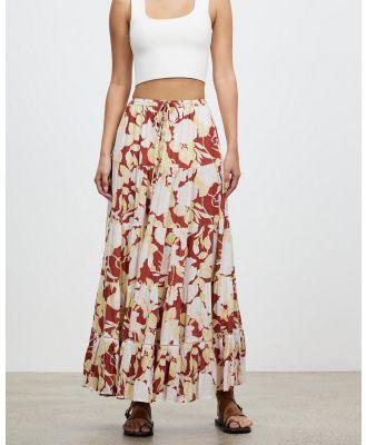 Kivari - Zanthe Floral Maxi Skirt - Skirts (Terracotta Floral) Zanthe Floral Maxi Skirt