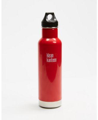 Klean Kanteen - 20oz Insulated Classic Loop Bottle - Running (Mineral Red) 20oz Insulated Classic Loop Bottle