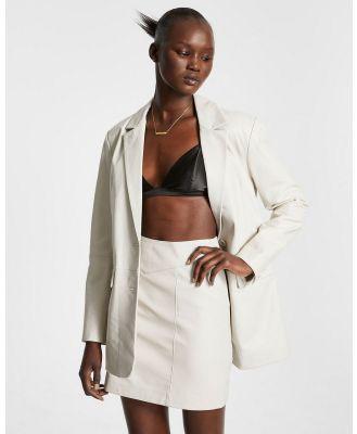 Ksubi - Vivian Leather Blazer - Blazers (WHITE) Vivian Leather Blazer