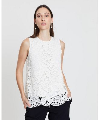 Lindsay Nicholas New York - Lace Top - Tops (White) Lace Top