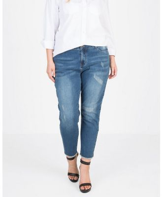 Love Your Wardrobe - Distressed Jeans - Crop (Indigo) Distressed Jeans