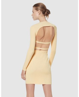 Manning Cartell - Escape Clause Knit Backless Mini - Bodycon Dresses (Butter) Escape Clause Knit Backless Mini
