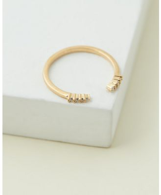 Medley - Pinnacle Open Ring - Jewellery (18ct Fine Yellow Gold Plated) Pinnacle Open Ring