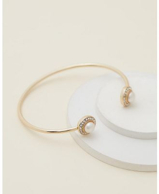 Mestige - Ayla Bangle With Crystals From Swarovski® - Jewellery (Gold) Ayla Bangle With Crystals From Swarovski®