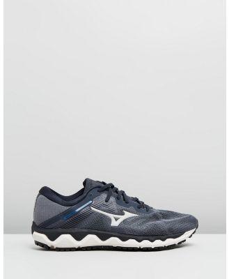 Mizuno - Wave Horizon 4   Men's - Performance Shoes (Castlerock & Moonlight Blue) Wave Horizon 4 - Men's