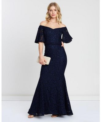 Montique - Flamenca Two Tone Lace Gown - Bridesmaid Dresses (Navy) Flamenca Two-Tone Lace Gown