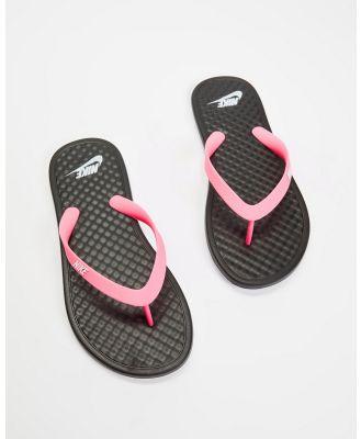 Nike - On Deck   Women's - All thongs (Black, White & Pink) On Deck - Women's