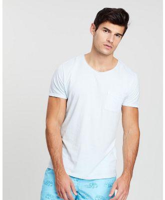 ORIGINAL WEEKEND - Garment Dyed Beach T Shirt - T-Shirts & Singlets (Ice Blue) Garment Dyed Beach T-Shirt