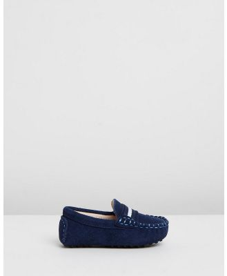 Oscars For Kids - Milan Loafers   Babies Kids - Dress Shoes (Navy Suede) Milan Loafers - Babies-Kids