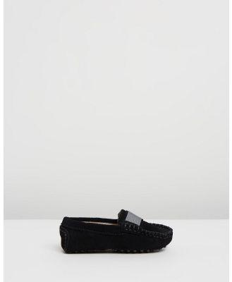 Oscars For Kids - Milan Loafers Infant - Dress Shoes (Black Suede) Milan Loafers Infant