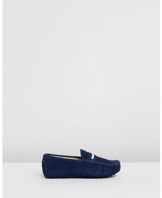 Oscars For Kids - Milan Loafers Kids - Dress Shoes (Navy Suede) Milan Loafers Kids