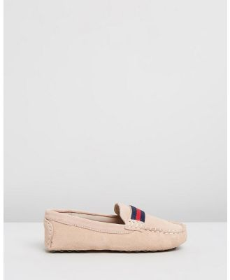 Oscars For Kids - Milan Loafers   Kids Teens - Dress Shoes (Beige Suede) Milan Loafers - Kids-Teens