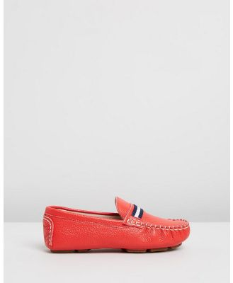 Oscars For Kids - Sorento Loafers   Kids Teens - Dress Shoes (Red) Sorento Loafers-  Kids-Teens