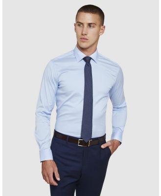 Oxford - Blue Stretch Travel Shirt - Shirts & Polos (Blue) Blue Stretch Travel Shirt
