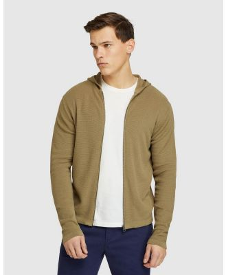 Oxford - Hutch Zip Up Cardigan - Jumpers & Cardigans (Green) Hutch Zip Up Cardigan