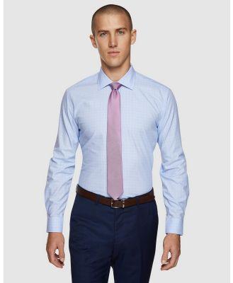 Oxford - Islington Checked Easy Care Shirt - Shirts & Polos (Blue) Islington Checked Easy Care Shirt
