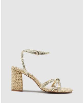 Oxford - Lita Metallic And Raffia Heels - Heels (Metallic) Lita Metallic And Raffia Heels