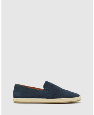 Oxford - Nelson Suede Espadrille Shoe - Casual Shoes (Blue) Nelson Suede Espadrille Shoe