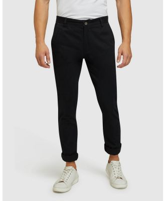 Oxford - Stretch Skinny Fit Chinos - Pants (Black) Stretch Skinny Fit Chinos