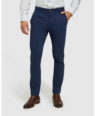 Oxford - Stretch Skinny Fit Chinos - Pants (Blue) Stretch Skinny Fit Chinos