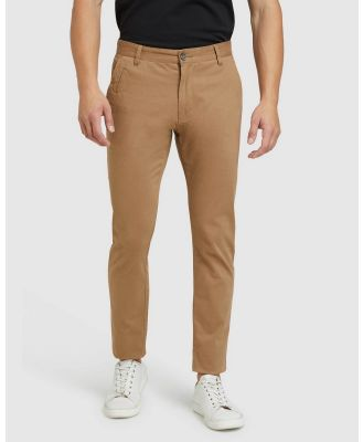 Oxford - Stretch Skinny Fit Chinos - Pants (Brown) Stretch Skinny Fit Chinos