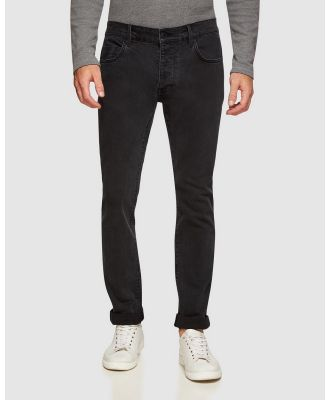 Oxford - Victor Slim Fit Stretch Jeans - Slim (Black) Victor Slim Fit Stretch Jeans
