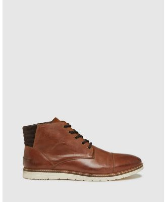 Oxford - Weston Leather Lace Up Boots - Boots (Brown) Weston Leather Lace Up Boots