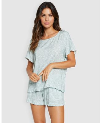 Project REM - Sage Floral Boxy Tee Set - Two-piece sets (Sage Floral) Sage Floral Boxy Tee Set
