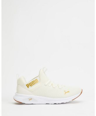 Puma - Enzo 2 Uncaged Running Shoes   Women's - Performance Shoes (Marshmallow & Puma Team Gold) Enzo 2 Uncaged Running Shoes - Women's