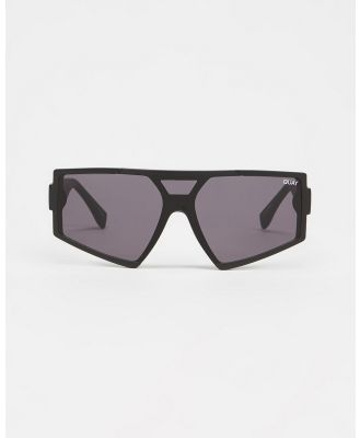 Quay Australia - Space Age - Sunglasses (Matte Black & Black) Space Age