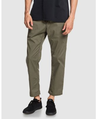 Quiksilver - Mens Fatigue High Water Fit Elasticated Pant - Pants (KALAMATA) Mens Fatigue High Water Fit Elasticated Pant