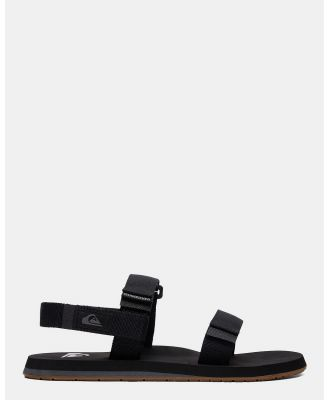 Quiksilver - Mens Monkey Caged Sandals - Thongs (BLACK/GREY/BROWN) Mens Monkey Caged Sandals