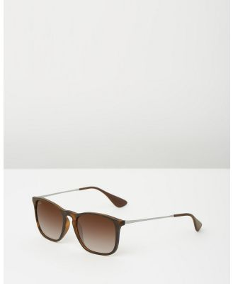 Ray-Ban - Chris RB4187 - Square (Gradient Brown) Chris RB4187