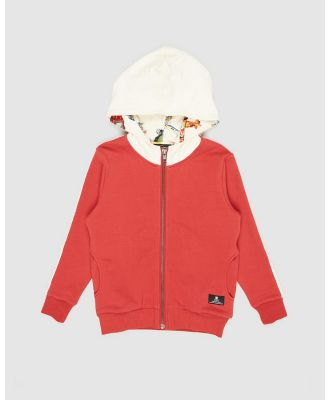Rock Your Kid - ICONIC EXCLUSIVE   Hooded Jacket   Kids - Hoodies (Red) ICONIC EXCLUSIVE - Hooded Jacket - Kids
