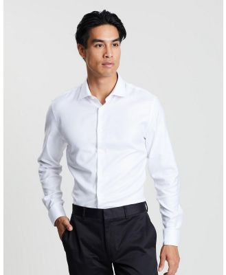 SABA - Collins Twill Easy Care Shirt - Shirts & Polos (white) Collins Twill Easy Care Shirt