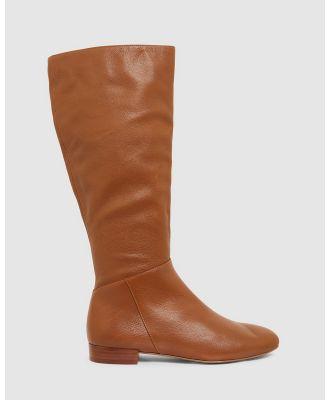 Sandler - Patrick - Knee-High Boots (MID BROWN) Patrick