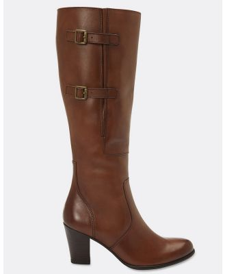 Sandler - Victor - Knee-High Boots (MID BROWN) Victor