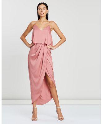 Shona Joy - Luxe Draped Cocktail Frill Dress - Bridesmaid Dresses (Rose) Luxe Draped Cocktail Frill Dress