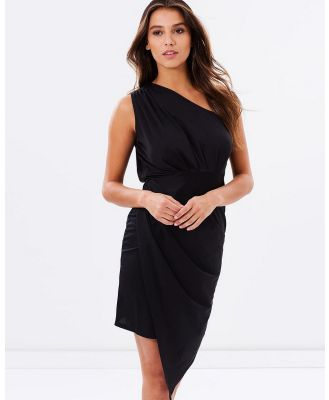 SKIVA - One Shoulder Asymmetrical Dress - Dresses (Black) One Shoulder Asymmetrical Dress
