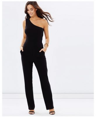 SKIVA - One Shoulder Pantsuit - Jumpsuits & Playsuits (Black) One Shoulder Pantsuit