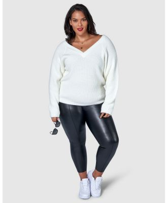 Sunday In The City - So Fly Fuzzy Knit - Jumpers & Cardigans (White) So Fly Fuzzy Knit