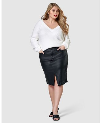 Sunday In The City - Whip It Pencil Skirt - Denim skirts (black) Whip It Pencil Skirt