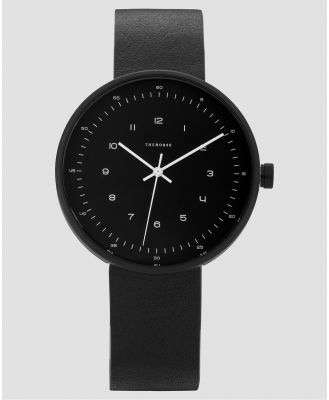 The Horse - The Minimal 40mm - Watches (Matte Black & Black Leather) The Minimal 40mm