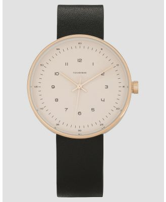 The Horse - The Minimal 40mm - Watches (Rose Gold & Black Leather) The Minimal 40mm