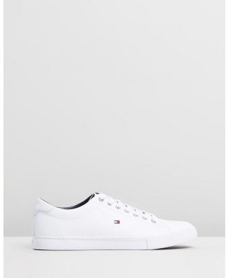Tommy Hilfiger - Essential Leather Sneakers - Sneakers (White) Essential Leather Sneakers